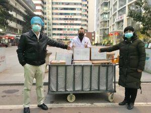 货物运抵武汉协和医院